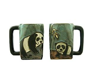 Mara Ceramic Stoneware 12 Oz. Panda Bear Mugs (Set of 2)
