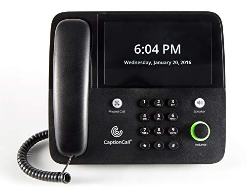 CaptionCall 67Tb Amplified Captioned Corded Home Telephone Touch Screen, 58dB Amplification, Caller ID, Answering Machine, Bluetooth, Loud Ringer Hearing Impaired by CaptionCall (Image #5)
