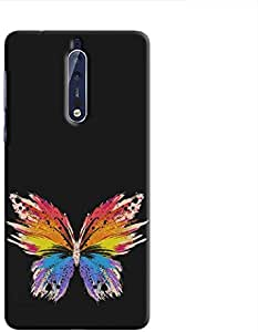 Cover It Up Rainbow Butterfly Hard Case For Nokia 8 - Multi Color