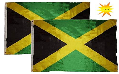 AES Jamaica Flags - 2-Piece Outdoor 3x5 Feet Jamaica Flags,