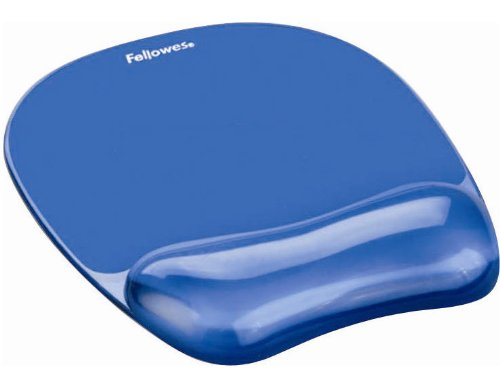 Blue Crystal Mousepad/Wristrest 2 (Fellowes Blue Usb Mouse)