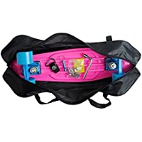 Cooplay 22 Black Penny Banana Skateboard Carry Bag Handbag Backpack Straps with No Skateboard by Cooplay