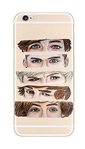iPhone 6 / 6S, DECO FAIRY the five guys' eyes Ultra Slim Translucent Silicone Clear Case Gel Cover for (One Direction 5sos Iphone 6 Case)