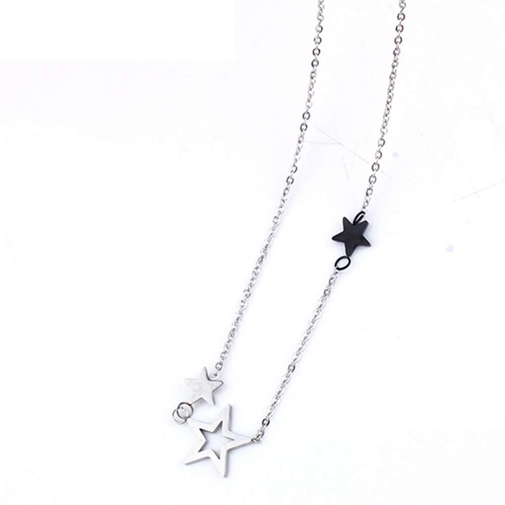 Apanqiqi Neckless Chain Chocker Choker Star Long Necklace Women Stainless Steel Jewelry BTS Accessories Zircon