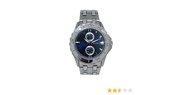 Amazon.com: Elgin FG7093 Mens Stainless Steel Analog & Military Time Dark Blue Watch: Watches