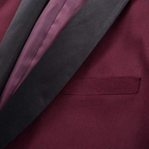Pezzi E Bordò Uomo Borgogna Xingshuoonline 46 Taglia 2 Smoking vestito Colore Rosso Semplice Per Da Bello Taglia A Cerimonia OPqHPnFt8