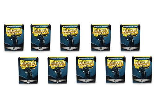 10 Packs Dragon Shield Matte Jet Standard Size 100 ct Card Sleeves Display - Jet Shield