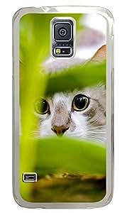 Samsung Galaxy S5 Hiding Cat PC Custom Samsung Galaxy S5 Case Cover Transparent