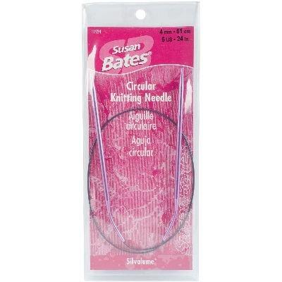 (Susan Bates 11924-6 24-Inch Silvalume Circular Knitting Needle, 4mm)