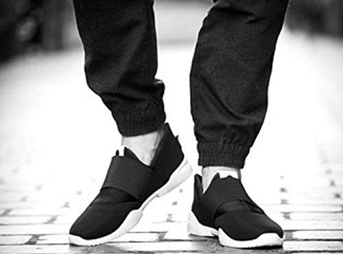 Scarpe Sportive Da Uomo Senza Lacci Colore Nero - LY-177