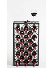 Wijnrek met glazen tafelblad