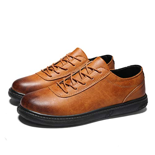 Starttwin Oxfords Shoes Men Fashion Lace Up Flexible Comfortable Leisure Dress ()