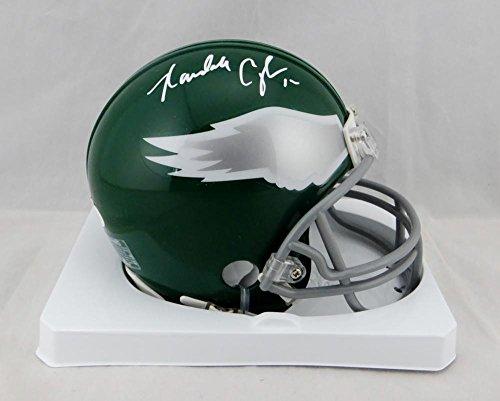 Randall Cunningham Signed Eagles 74-95 TB Mini Helmet- JSA W Auth White