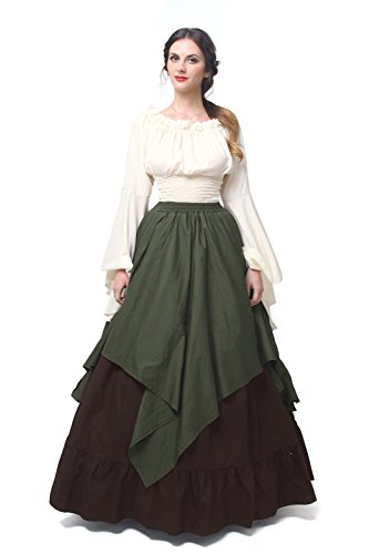 Highlander Fancy Dress Costumes - NSPSTT Womens Renaissance Medieval Costume Dress