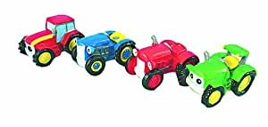 Under Construction Mini Tractor Cake Decorations