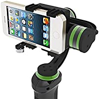 LanParte HHG-01 3-Axis Motorized Handheld Gimbal Stabilizer for iPhone 7 Plus GoPro Smartphones with GoPro Clamp and Extra Counterweights Kit Included