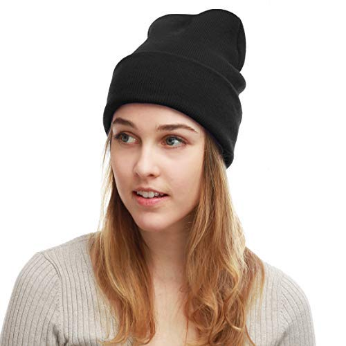 7e837def738a3 THE HAT DEPOT Made in USA Skull Beanie Hat (Black) at Amazon Women s ...