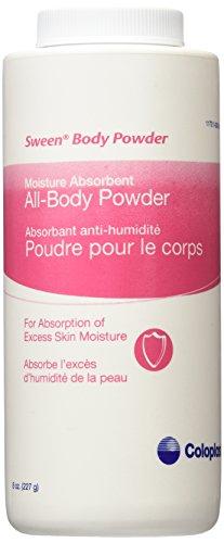 Sween Body Powder 8 oz Bottle (Pack of 2 Bottles)