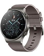 """Huawei Watch GT 2 Pro - Classic - Nebula Grey - inteligentny zegarek z paskiem - skóra - Szary Brąz - rozmiar nadgarstka: 140-210 mm - wyświetlacz 3,5 cm (1,39"""")"""