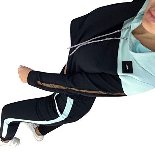 Manches Femmes Capuche Casual Sweat 9 Long Longues Pantalon Stripe Courir Poche Courtes Lâche Hauts Splice Couple Ensemble Cordon Sportwear Mode Zipper À Impression Sport vert Pull PqdwPZ