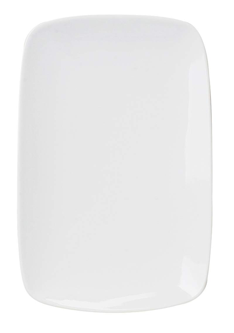 HIC Harold Import Co. HIC Porcelain Rectangle Plate, 9.63-Inch