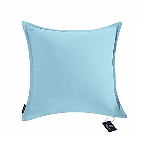 Aitliving Decorative Cushion Pillow Cover Throw Pillow Cases Cotton Velvet 1 pc Cotton Accent Pillow Cushion Cover Sky Blue 18x18 - Dark Sky Chain