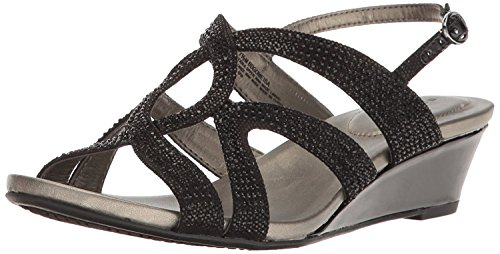 Bandolino Women's Gomeisa Wedge Sandal, Black, 7.5 M US Bandolino Womens Dress Sandals
