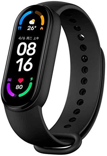 "Voor Xiaomi Mi Band 6 1.56 ""Scherm Smart Armband Bloed Zuurstof Fitness Tracker Hartslagmeter Bluetooth Smart Band"