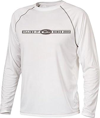 Drake Killing It Long Sleeve Performance UPF-50 T-Shirt (Bone) (Large)