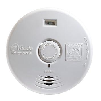 Kidde p3010h sin preocupaciones Pasillo fotoeléctrico detector de humo con luz de seguridad y 10 Año