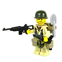 US Army WW2 101st Airborne Paratrooper (SKU1)- Battle Brick Custom Minifigure