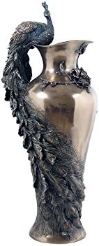 Art Nouveau Style Prunus and Peacock Vase