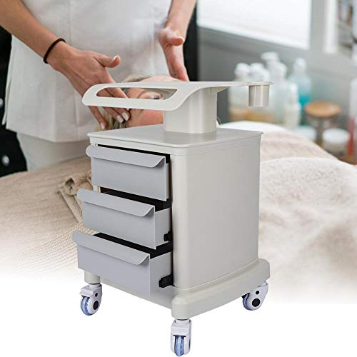 Salon Trolley Cart with 3 Drawer – Beauty Salon Locking Rolling Trolley,suitable for beauty shop, spa, barber shop, home