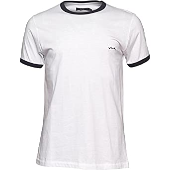 14c66d139 Mens French Connection Mens FCUK Ringer T-Shirt White - White/Navy - S Fit  Chest 36-38 (91-96cm): Amazon.co.uk: Clothing