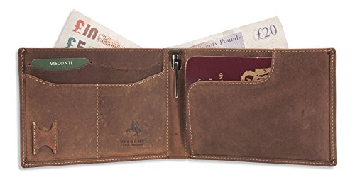 Stylus Mens Travel Card Genuine Visconti With 726 Tan amp; Passport Sections Pen Leather Note amp; Credit Sim Holder Card Oil Wallet VS tdqw5wz6