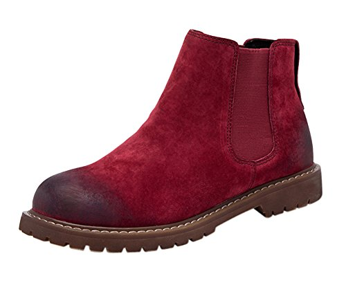 Bootie Fur 1bacha Unisex Teenager Adult Red Leather Ankle Tortor Chelsea Lined TH0qw