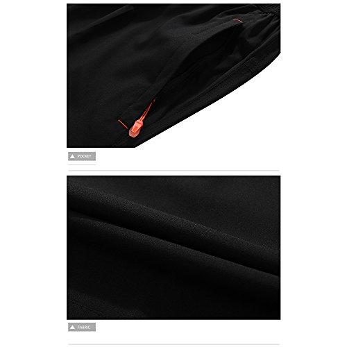 Lixada Sport Shorts Männer Laufen FitnessSchnell Trocknend Hosen Reine Farbe Lose Atmungsaktive Shorts mit Taschen 2XL-4
