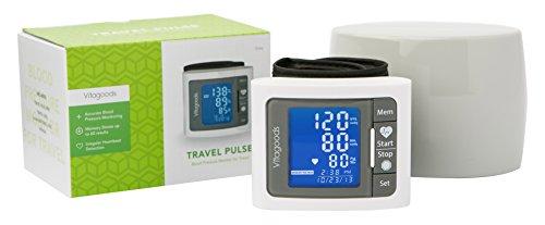 Vitagoods Travel Blood Pressure Monitor, Grey