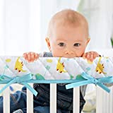 3-Piece Padded Baby Dinosaur Crib Rail Cover