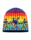 Grateful Dead Knit Beanie Skull Cap Winter Hat with Iconic Graphics - Tie Dye Bears