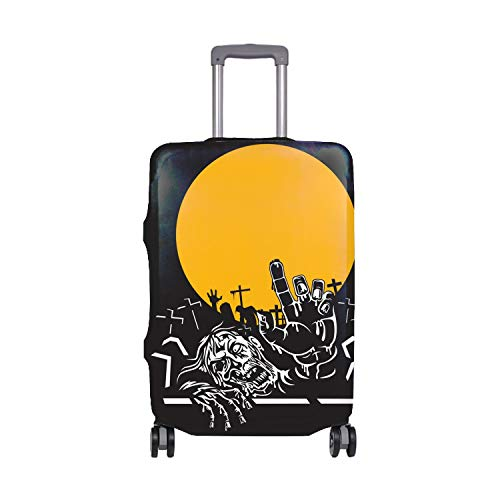 Spandex Luggage Cover for Travel Halloween Zombie Night Suitcase Protective Bag Cover Fit 26x28 in -