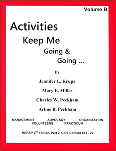 Activities Keep Me Going and Going, Volume B: Jennifer Krupa, Mary ...