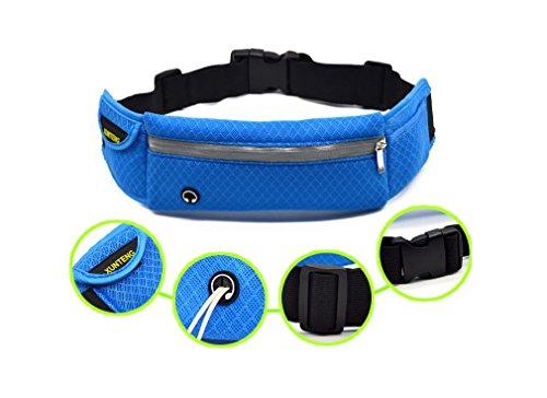 YYY-Deportes bolsillos hombres gran capacidad ligeras y prácticas mujeres fitness al aire libre escalada bolsa con orificio para auriculares , blue , 10 inch Blue