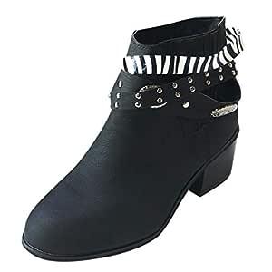 Luckycat Botas Camperas para Mujer Zapatillas Moda Botines Botas ...
