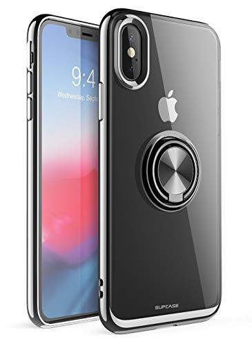 SUPCASE [Unicorn Beetle Snap Series] Case Designed for iPhone Xs 5.8,360° Rotating Built-in Ring Holder Kickstand (Black)