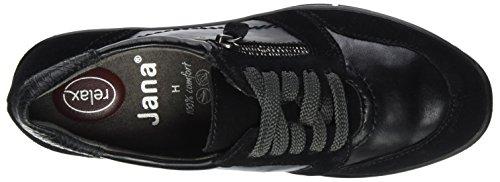 Jana Women's 23701 Low-Top Sneakers Black KwBPL