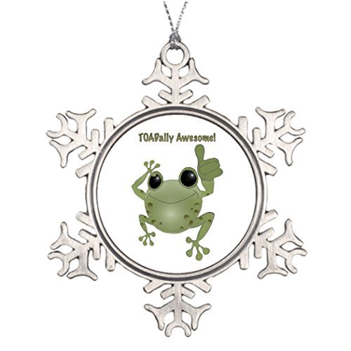 Metal Ornaments Toad Best Friend Snowflake Ornaments Badges Pictures Of Decorated Christmas Trees Animals Frogs