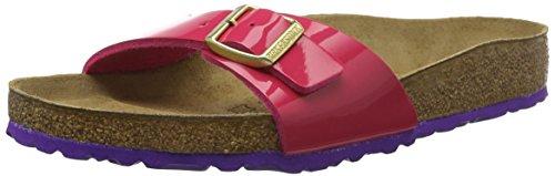 Birkenstock Madrid Ladies Buckle Mule Sandals Patent Pink/Violet Sole 37 (Footwear Patent Violet)