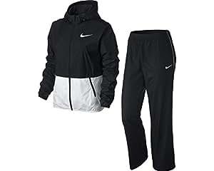 Nike Half Timer Warmup - Chándal para mujer, color negro / blanco, talla M