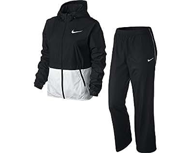 Nike Half Timer Warmup - Chándal para mujer, color negro / blanco, talla L